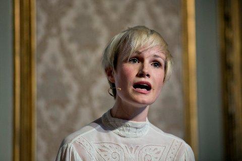 Lena Kristin Ellingsen ved en tidligere pressekonferanse.