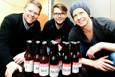 Morten Iveland, Andreas Myrvold og Erik Hugaas Ofstad i Bådin AS.