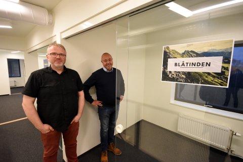 Førnøyd: Direktøren for Nordlandsmuseet, Morten Steffensen (t.h.) er fornøy med å ha fått ansatt Arne André Solvang som ny direktør på Hamsunsenteret.