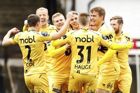 Glimt har hatt mye å juble for i år, og dominerer de fleste statistikkene fra 1. divisjon. Foto: Pernille Nielsen / NTB scanpix