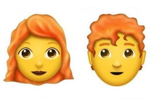 EMOJI: Rødhårede emojis kommer til neste år.