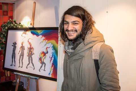 Bildet «Finding the Light» av Hossam Alkhatib Albuaini (23) ble i høst kåret til én av de tre beste bidragene i en stor konkurranse i regi av Norsk kulturskoleråd.