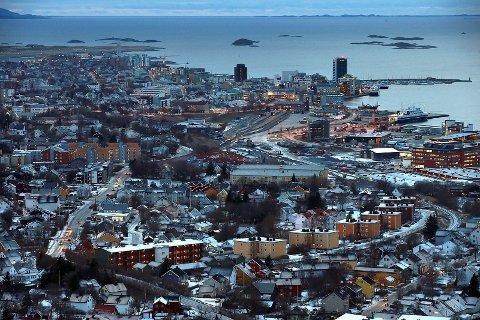 Bodø Sentrum.Rønvika.Fra Ramflåget.