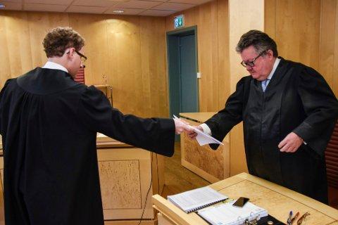 Politiadvokat Alf-Anton Røst og advokat Tor Haug
