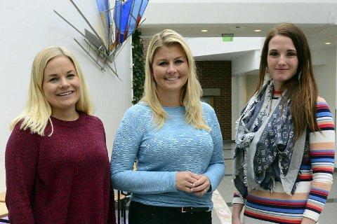 Line Danielsen, Hege Leirfall Ingebrigtsen og Anne Tjønndal talte på kvinnedagen.