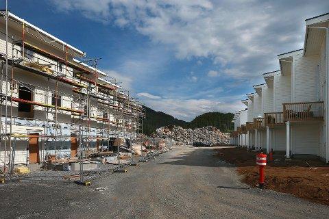 Jensvolldalen. Fra en tidlig fase i utbyggingen som er gjennomført i flere byggetrinn.
