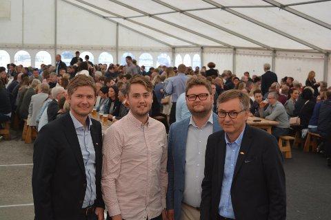 Fra venstre: Christian Nordvik, Fredrik Nordvik, Alexander Nordvik og konsernsjef Thor Allan Nordvik.
