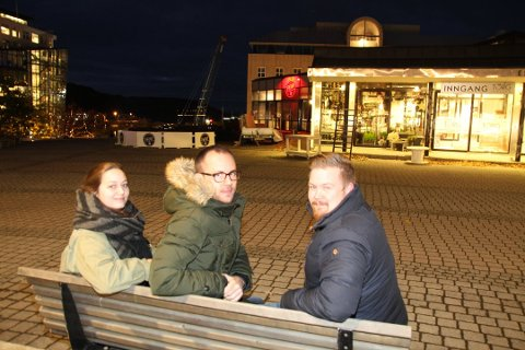 Hilde Opdahl, Michal Mlynarczyk og Svein Kristian Malin skal feire tiårs-dagen til LystPå kommende helg. - Vi skal klare oss ti år til, sier Malin.