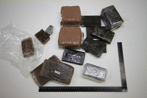 Narkotikabeslaget som politiet gjorde på Værøy