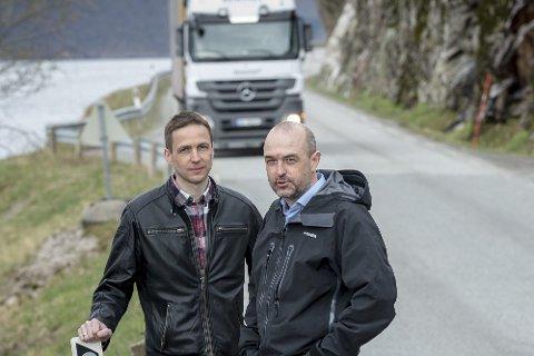 Enige: Det er bred enighet om bompengefinansiering blant politikerne i Meløy, ifølge Sigurd Stormo (Ap) og Per Frøskeland (H).