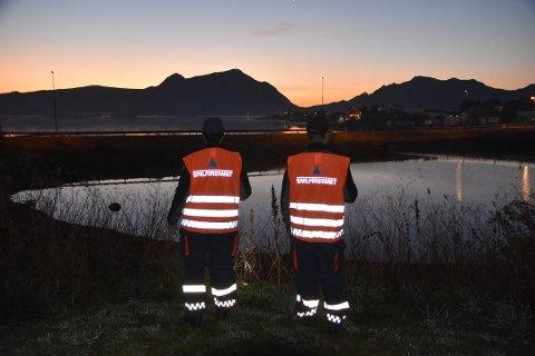 Sivilforsvaret deltar i leteaksjonen. Foto: Kai Nikolaisen
