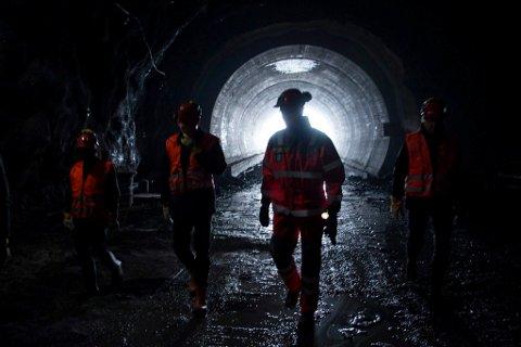 Arbeidet med Bodøtunnellen fortsetter. Arkivfoto.