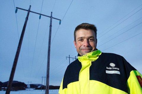 Administrerende direktør i Nordlandsnett, Harald Magnus Andreassen forteller at arbeidsstokken på Fauske skal flyttes til Bodø.
