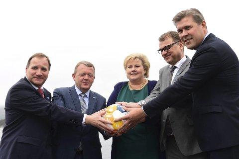 Forskjeller: Her er de nordiske statsministre samlet, men i innvandringsdebatten dominerer forskjellene; symbolpolitikken preger Sverige, forsiktigheten Norge og umildheten i Danmark.