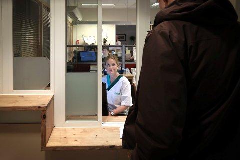 Bodø Legevakt i  Spektrum.Oktober 2018.Sykepleier Therese Hauge i luka