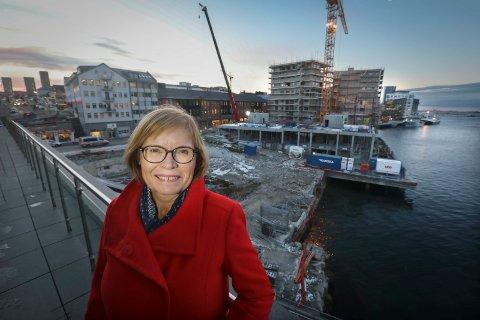 Spent: Annelise Bolland er byplansjef og er svært spent på om omforminga av Bodø sentrum svarer til forventningene, både når det gjelder næring, handel og kultur.