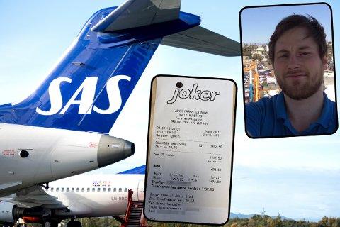 BONUS: SAS er et av flere flyselskap i Norge som tilbyr bonusordninger. Erik Storli tar i bruk en litt uvanlig metode for å tjene opp bonuspoeng.