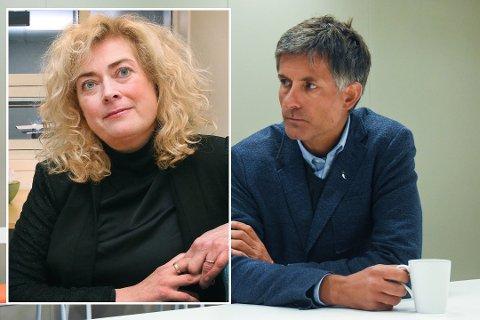 Styreleder Marianne Telle og avtroppende UNN-direktør Tor Iigebrigtsen.