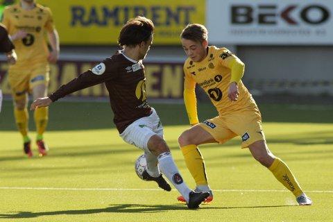 Bodø/Glimts Patrick Berg har ikke fått voldsomt med tillit i år fra trenerne. 21-åringen er nok ettertraktet blant konkurrentene.