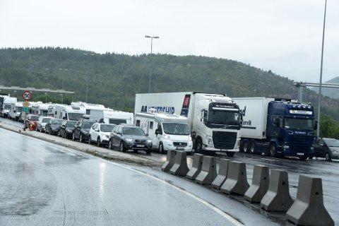 Rammes: Fergesambandet Bognes-Lødingen vil bli rammet av en eventuell streik.
