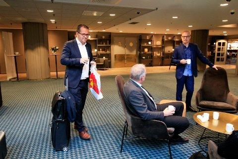 Rektor Bjørn Olsen var innkalt til møte med styret før styremøtet mandag. Ryktene gikk om at han ikke hadde styrets tillit.