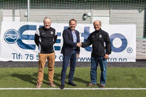 Trond Dahlhaug med Einar Jørgensen (i midten) og Ole Rasch (t.h.)