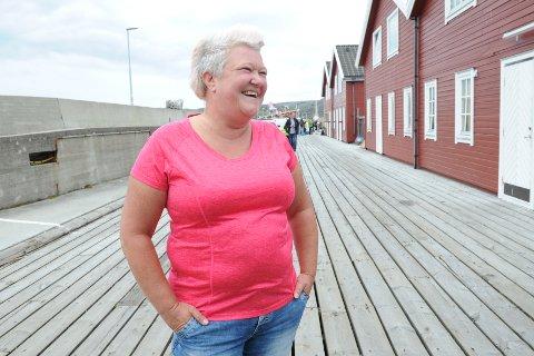 Anita Jørgensen måtte innrømme at det var litt kaldt, men veldig gøy.