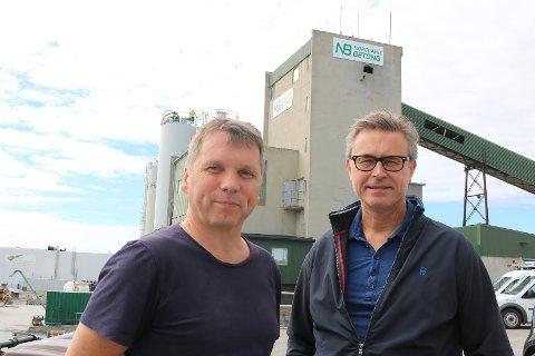 Tore Mosand i Nordland Betong (t.v) og Odd-Emil Ingebrigtsen i BRUS.