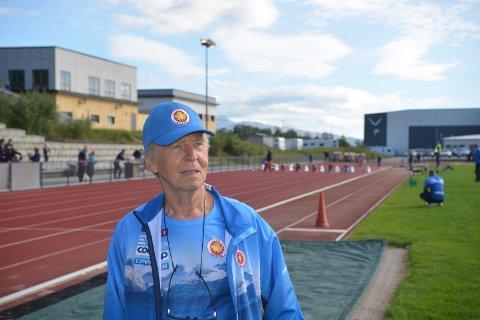 Leder: Gunnar Pedersen er leder i Bodø friidrettsklubb, og ønsker ny flerbrukshall på Mørkved. Foto: Truls Naas.