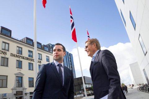 Danny Hayes gjestet Innovasjon Norges arrangement i Bodø 7. juni. Her sammen med Tor Lægreid - direktør i NOSO Nordnorsk Opera og symfoniorkester.