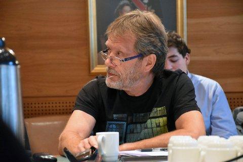 Formannskapet 30 august 2018. Rådmann Rolf Kåre Jensen, Svein Olsen (rødt)