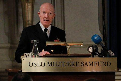 Forsvarssjef Haakon Bruun-Hanssen mener Norge må satse enda mer på Forsvaret.