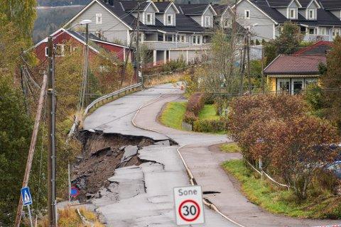 SKRED: 16. september i år gikk det et kvikkleireskred på Li i Nittedal kommune.