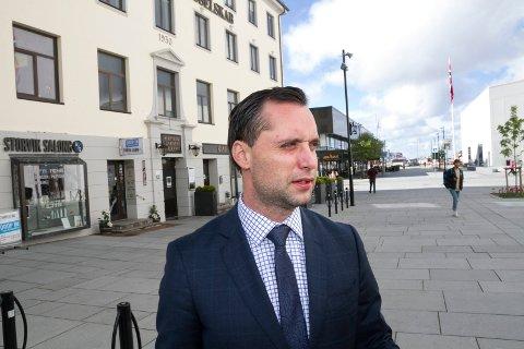 President i Harvester Trust Danny Hayes, også CEO i Borealis Industries AS.  Under Innovasjon Norges arrangement i Bodø.