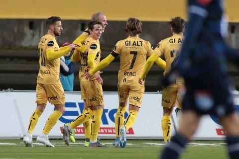 Bodø, Norway 20191124.  Eliteserien fotball 2019: Bodø/Glimt-Kristiansund. Håkon Evjen har scoret 1-0  ieliteseriekampen mellom Bodø/Glimt og Kristiansund på Foto: Mats Torbergsen / NTB scanpix