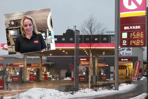 Circle K på Fauske er en av stasjonene som utmerker seg nasjonalt. Her ved daglig leder og driver Tove Kristin Eliassen.