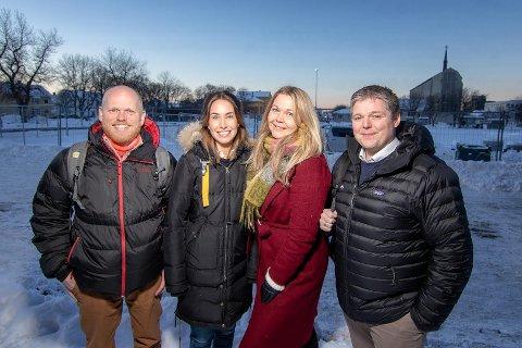 Fra venstre: Bjørn Vidar Vangelsteen (Nordlandsforskning), Karoline Nilssen, Marianne Bahr Simonsen og Harald Østbø (Iris produksjon).
