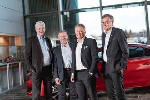 Strategisk samarbeid: Oddvar Antonsen fra Teknisk Bureau, Ole Steinar Østlyngen fra Alta Motosenter, Bjørn Maarud fra Bertel O.Steen og Thor Allan Nordvik fra Nordvik Gruppen.