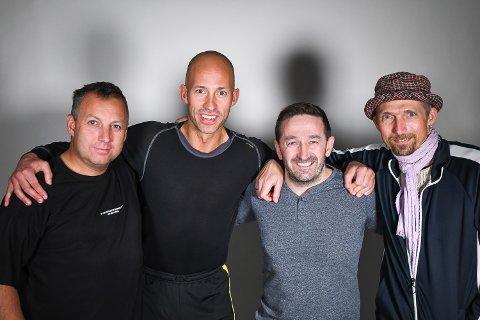 Stian Høgland, Jonas Ueland Kolstad, Anders Hammer og Freddy Toresen inntar Sportsbaren.