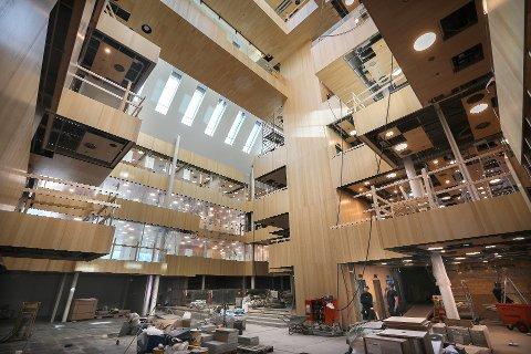 Det nye rådhuset i Bodø kommer til å overskride budsjettet med ca. 39 millioner kroner.