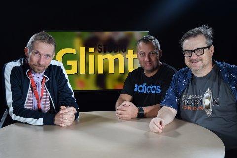 Søndag er det endelig klart for en ny sesong med Studio Glimt - og det i et splitter nytt studio. Freddy Toresen, Stian Høgland og Stein Sneve er tre av dem som skal lose seerne trygt gjennom sesongen. Carl Henning Biørnstad
