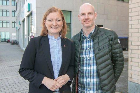 Ordfører Ida Pinnerød og helseleder Stian Wik Rasmussen i Bodø kommune.