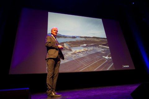 Avinor ved konserndirektør Dag Falk-Petersen. Temaene er utviklingen i luftfarten, klima, elektriske fly og bodøprosjektet.