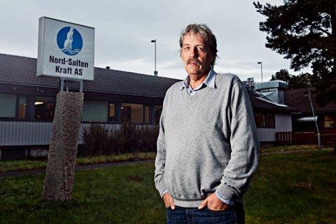 Tar ikke av: Administrerende direktør Stein Valle i Nord-Salten Kraft AS tar ikke av til tross for rekordomsetning i 2018.