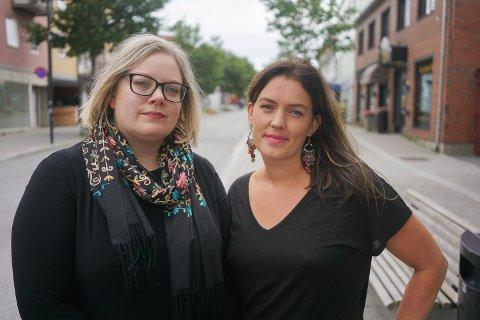 Astri Dankertsen, samfunnsforsker og 2.-kandidat i Rødt Bodø, og Synne Bjørbæk, Rødt Bodøs ordførerkandidat og nåværende varaordfører i Bodø kommune.