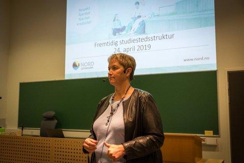 Rektor Hanne Solheim Hansen, nytilsatt rektor ved Nord Universitet.