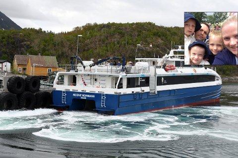 Småbarnsfamilie: Tore Eilertsen trodde han trykket inn feil antall personer da han så prisen for turen med hurtigbåten.