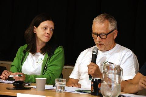 Valgvinnere: Senterpartiet, her representert ved ordførerkandidat Britt Kristoffersen og Leif Harald Olsen, fikk over 30 prosent av forhåndsstemmene.