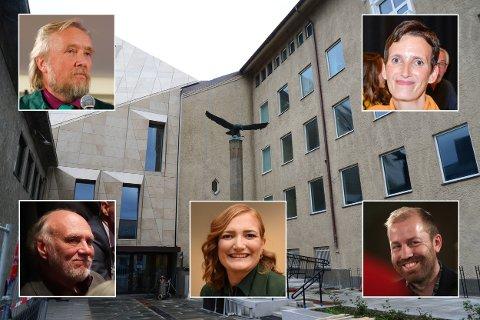 Den første som må avklares, ser ut til å være om det fins grunnlag for et samarbeid mellom Ola Smeplass' Sp, Randolv Gryts SV, Ida Pinnerøds Ap, Håkon Møllers MDG og Bente Haukås' KrF.