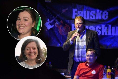 Per-Gunnar Skotåm (Rødt) mener Senterpartiet bør tenke seg nøye om.  Her illustrert med Marlen Rendall Berg (Sp) og Hilde Dybwad (Ap). Foto: Christian A. Unosen